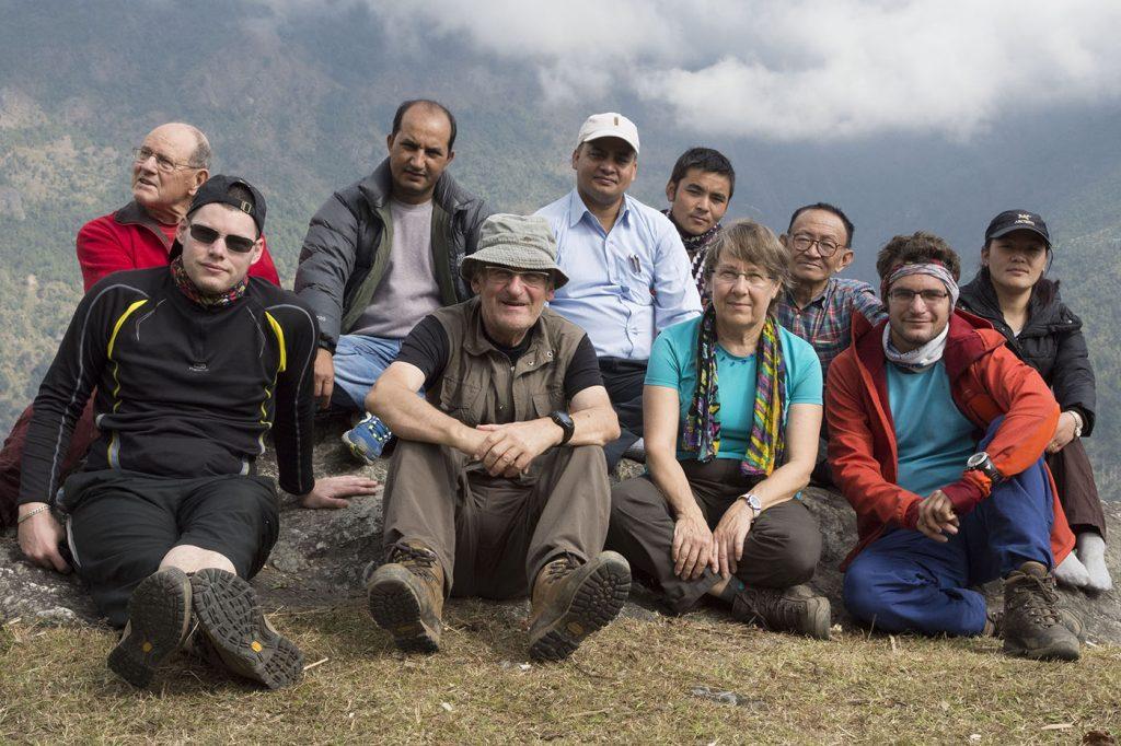 Les représentants d'ANUVAM à l'arrivée à Rapcha (novembre