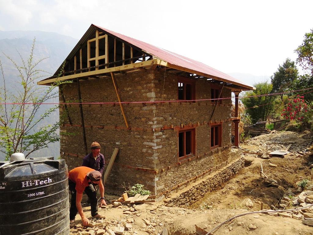 La maison est presque terminée (mars 2017)